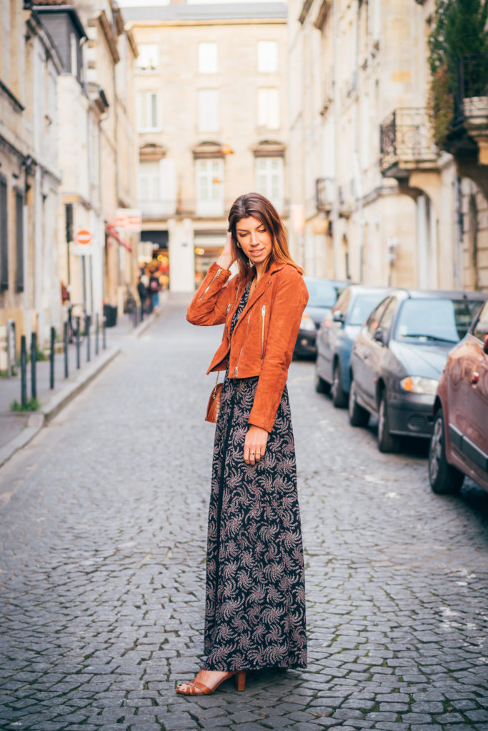 perfecto robe longue bash blog mode bordeaux