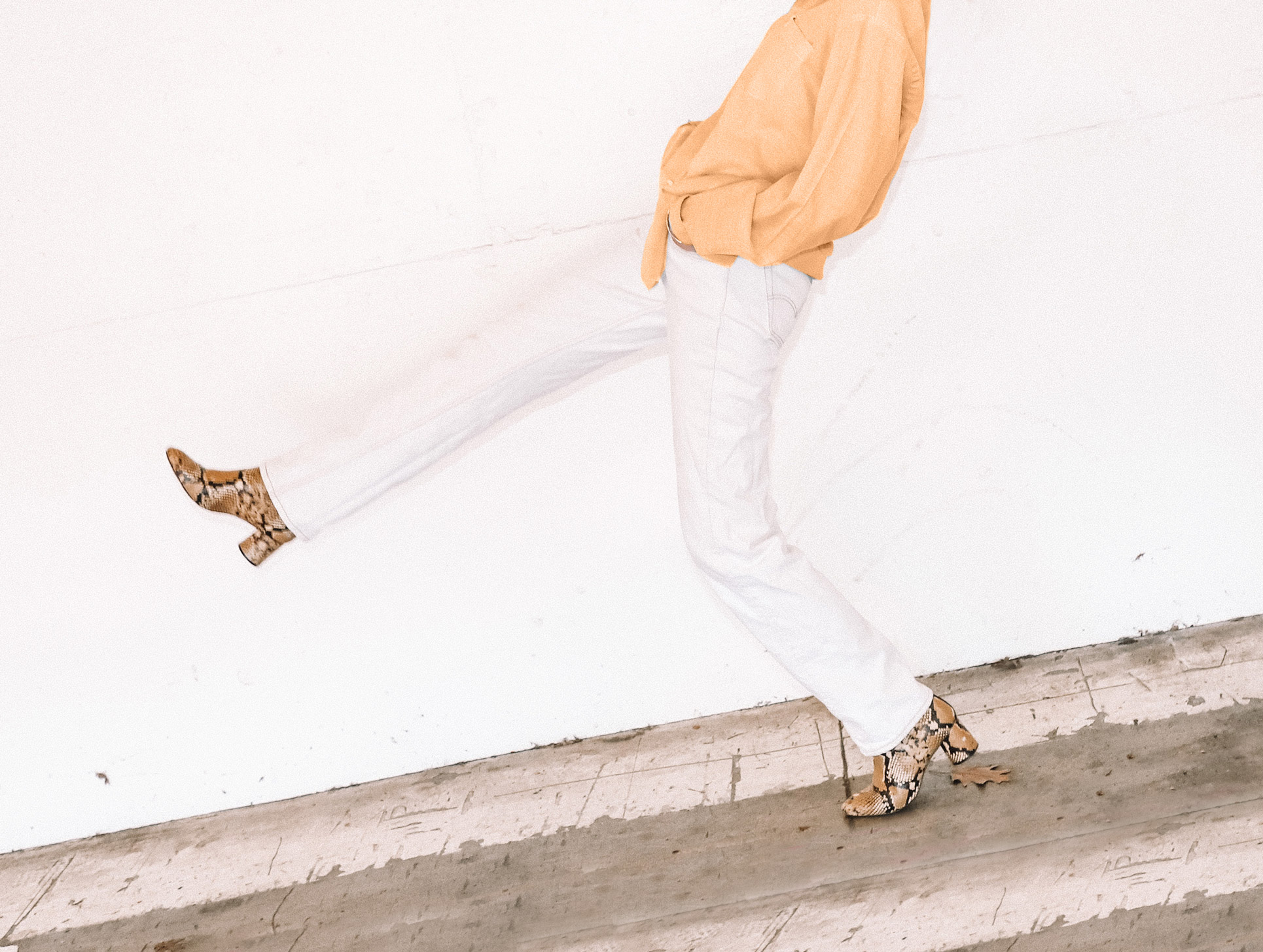 porter un jean blanc en été