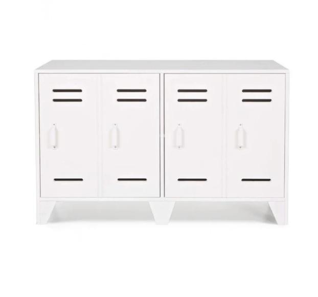 meuble industriel blanc