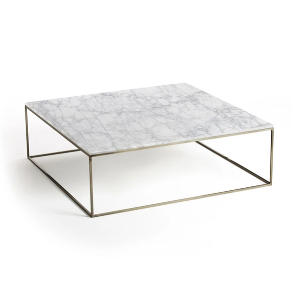 table basse carre marbre