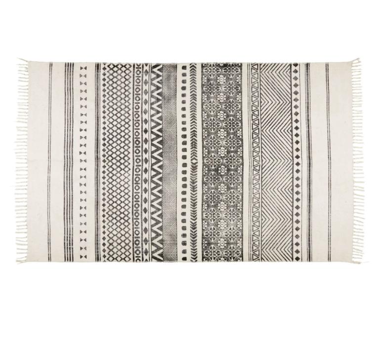 tapis coton noir