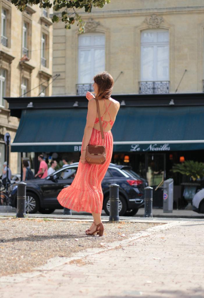 blogueuse mode look été robe rouge