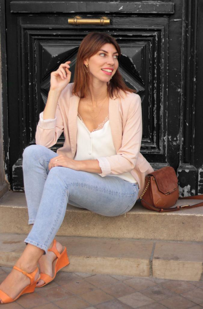 blazer rose jean style