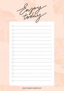 to do list-enjoy today