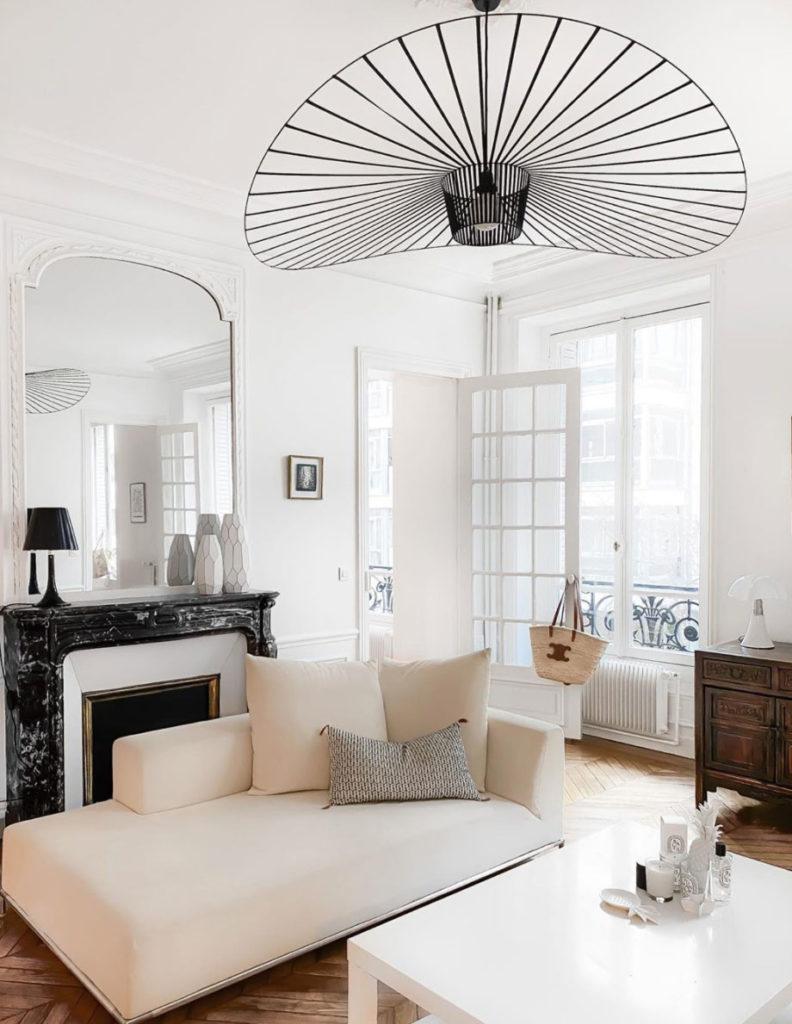 Deco blanc couleurs claires pour petit appartement