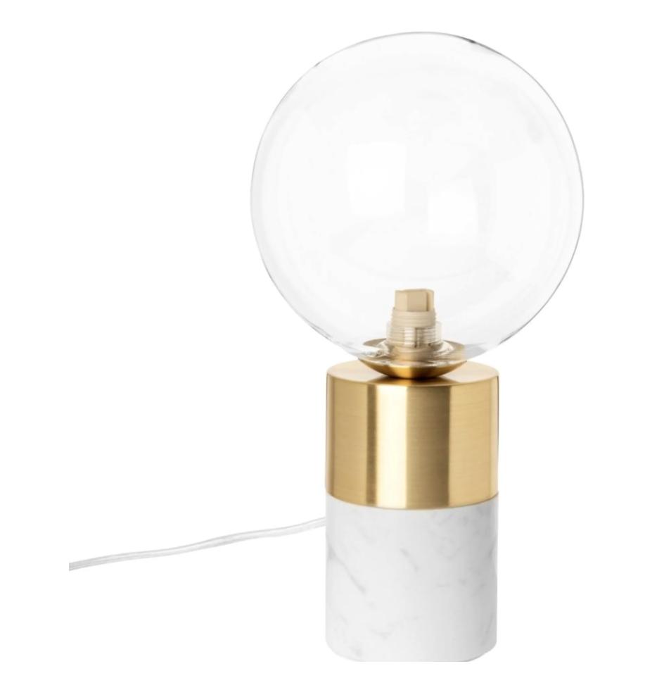 lampe métal doré et méton