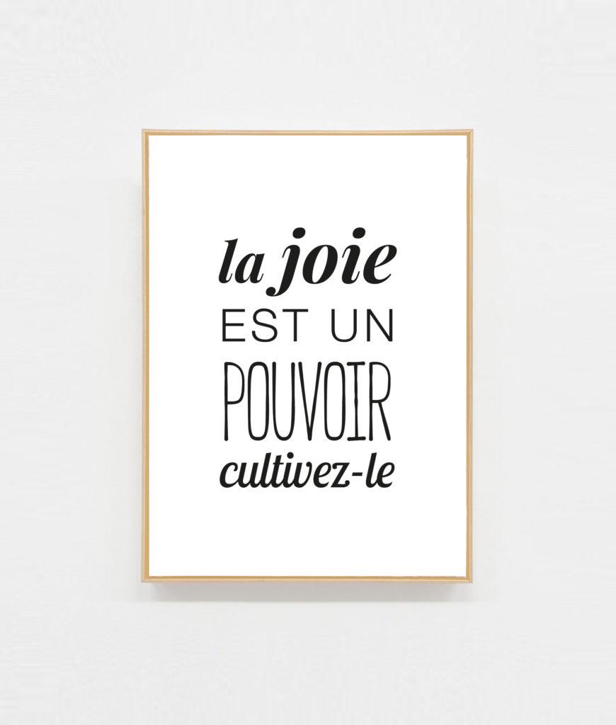 Carte postale La joie est un pouvoir
