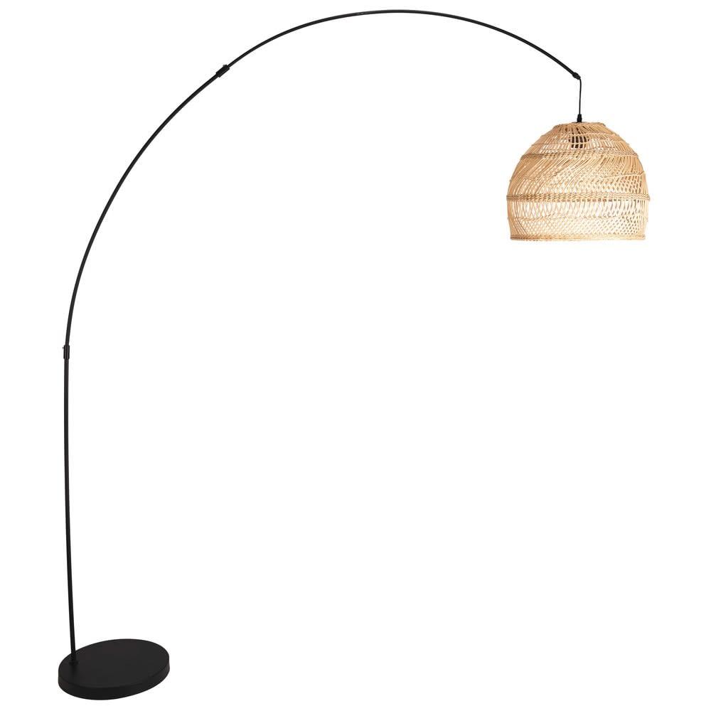 lampadaire en rotin