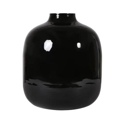 vase noir laque