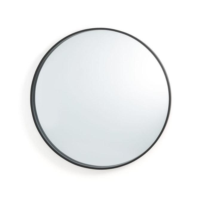 miroir rond noir la redoute