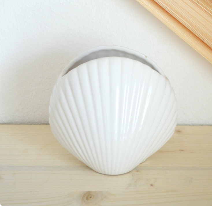 vase blanc coquillage