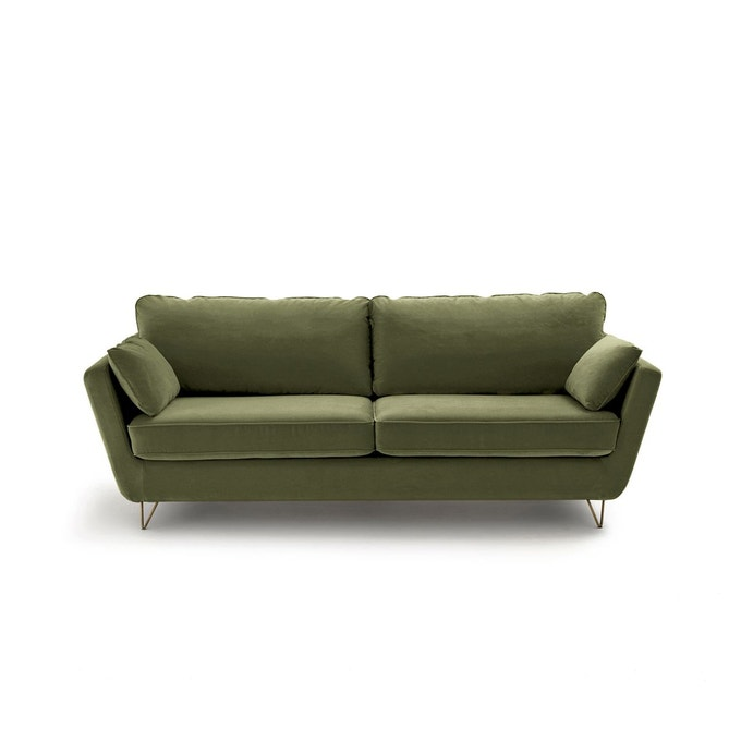 canape convertible velours olive