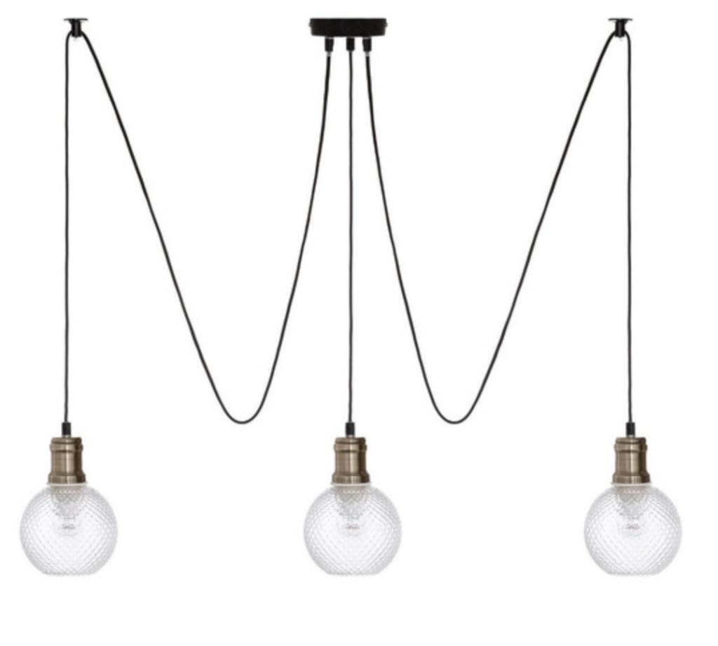 suspension 3 lampes metal